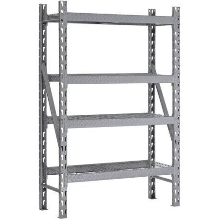 Muscle Rack 48u0022W x 18u0022D x 72u0022H Steel Welded Storage Rack, Silver