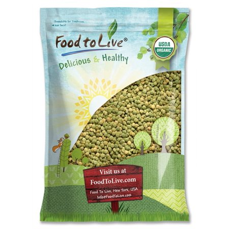 Organic Green Lentils By Food To Live  Whole Dry Beans  Non Gmo  Raw  Sproutable  Bulk     15 Pounds