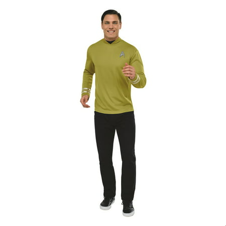Star Trek Mens Deluxe Captain Kirk Halloween Costume (Star Trek Tng Halloween Costumes)