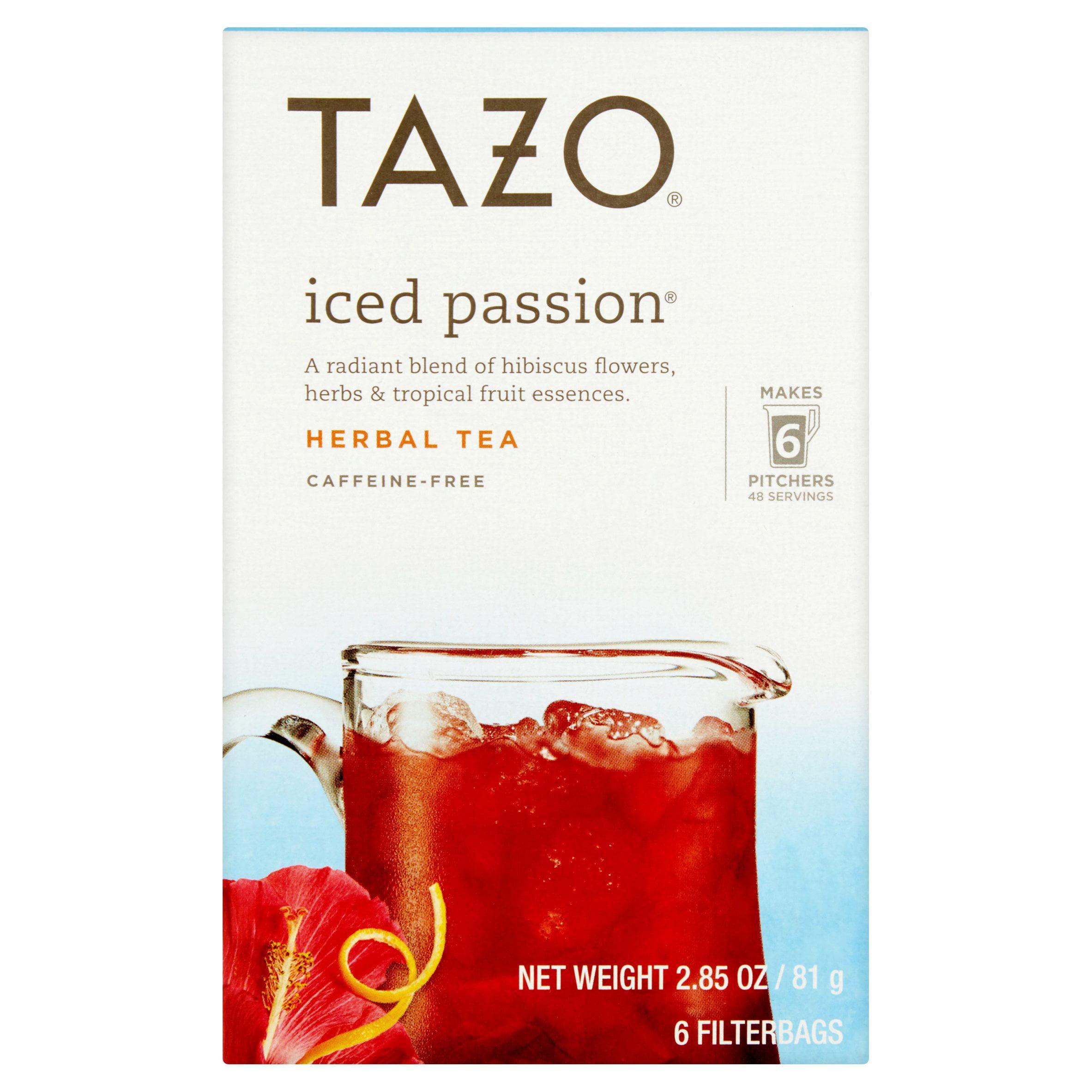 (3 Pack) Tazo Iced passion Tea Bag Herbal Tea 6ct