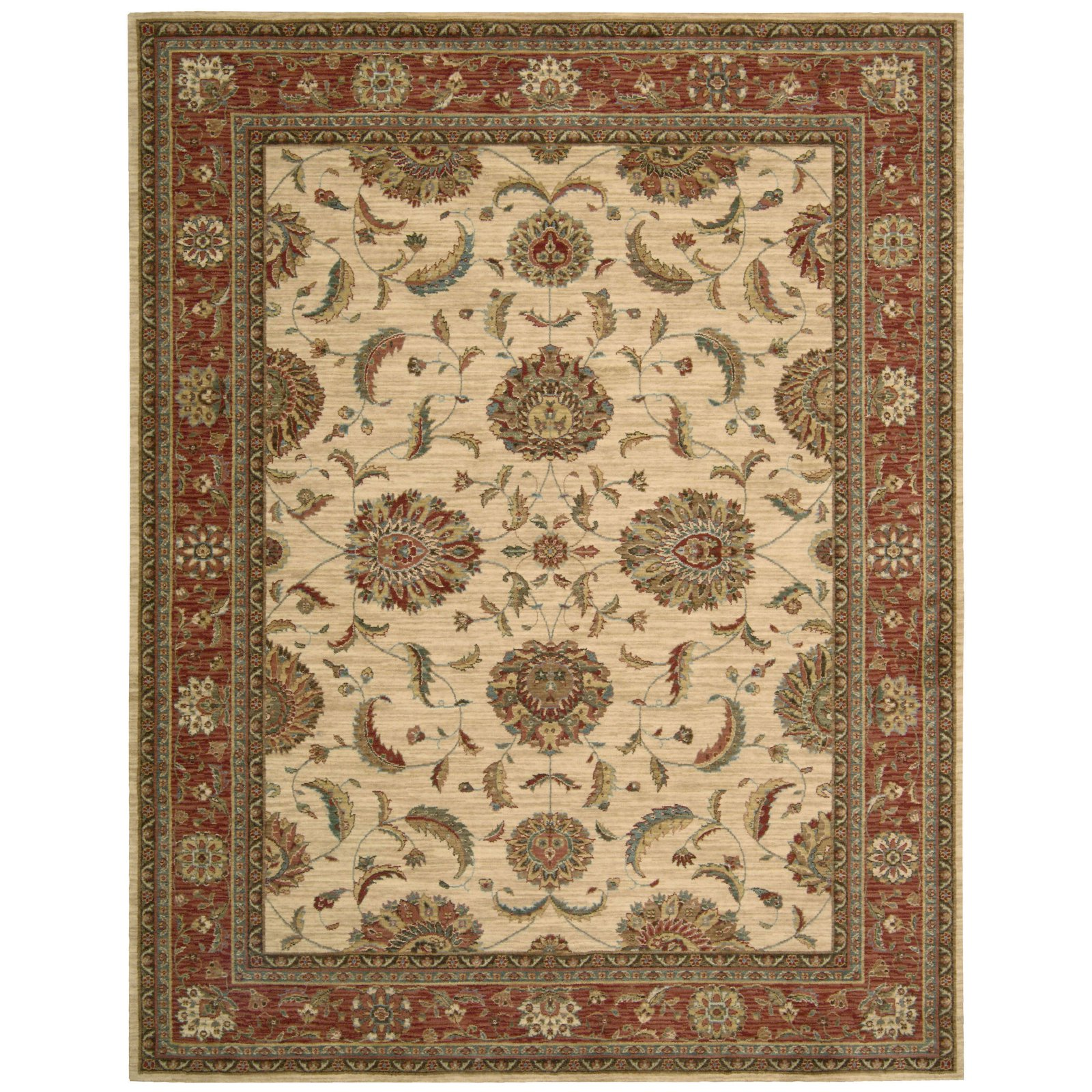 Nourison Living Treasures LI04 Oriental Rug - Ivory Red