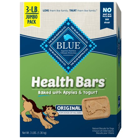 Blue Buffalo Health Bars Crunchy Dog Treats Biscuits, Apple & Yogurt, 48-oz box - Biscuit The Dog Halloween
