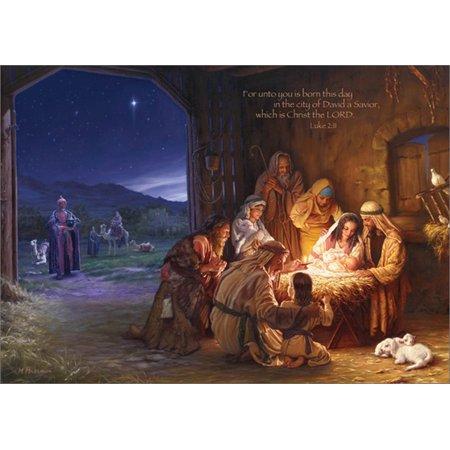LPG Greetings Light of the World Box of 16 Mark Missman Religious Christmas - Religious Christmas Cards