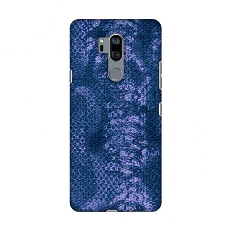 Watch Case Snake Pattern - LG G7 Case, LG G7 ThinQ Case, Slim Fit Handcrafted Designer Printed Snap on Hard Shell Case Back Cover - Snakes - Teal Blue Skin Pattern Overlap