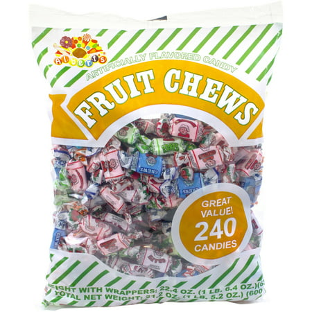 Alberts Fruit Chews Candy  240 Count  22 4 Oz