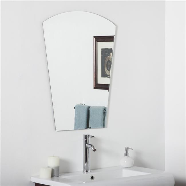 Decor Wonderland SSM3005 Paris Modern Bathroom Mirror Silver by Decor Wonderland