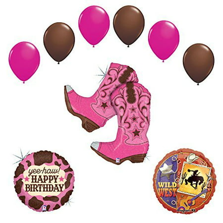 Wild Wild West Cowgirl Boots Birthday Party Supplies and Balloons Decorations](Wild Wild West Decorations)