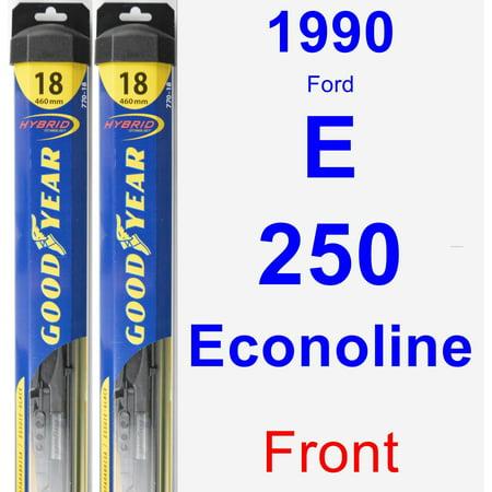 1990 Ford E-250 Econoline Wiper Blade Set/Kit (Front) (2 Blades) - Hybrid