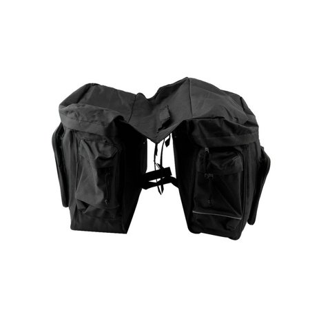 Traveller Pannier - New 30L Cycling Bicycle Bag Bike Double Side Rear Rack Tail Seat Pannier Black