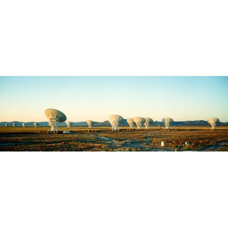 - Radio Telescopes in a field Very Large Array National Radio Astronomy Observatory Magdalena New Mexico USA Canvas Art - Panoramic Images (12 x 36)