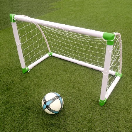 Ktaxon 4'(H) x 2.6'(w) Portable Football Soccer Goal Training Set, with Net Buckles Ground Nail, for Beach, Playground use - image 2 of 6