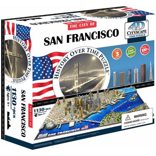 4D Cityscape Time Puzzle San Francisco, USA