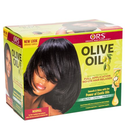 ORS Olive Oil Full Application No-Lye Hair Relaxer - Normal Kit (African Pride Relaxer Kit)