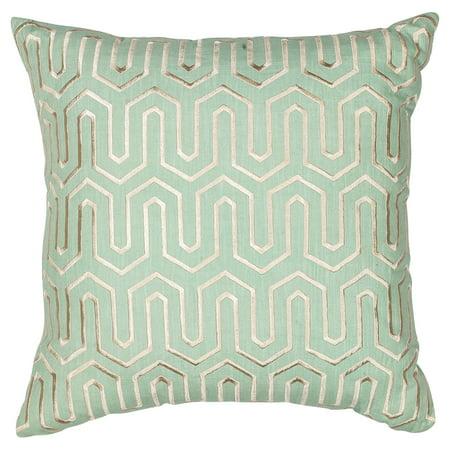 KAS Rugs Seafoam Geo Decorative Pillow Walmart Classy Seafoam Decorative Pillows