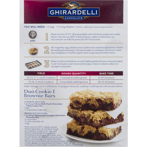 Ghirardelli Dark Chocolate Chip Cookie Mix 16 75 Oz Walmart Com Walmart Com