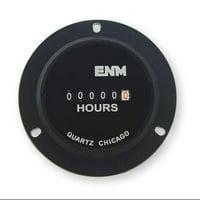 Enm T40B45 6 Digit Hour Meter, Round