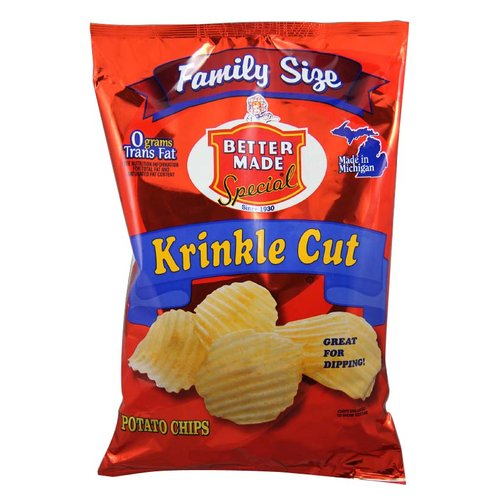 Better Made Special Krinkle Cut Potato Chips Family Size, 10 Oz.