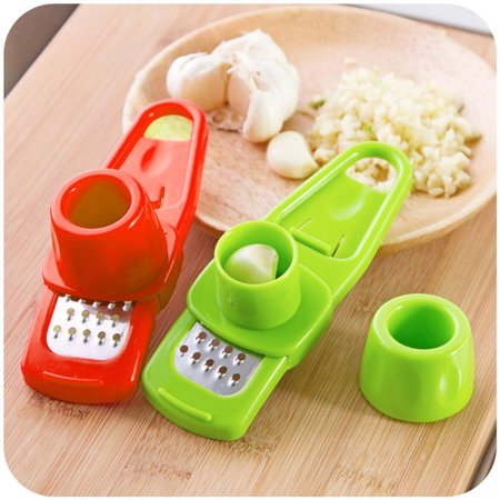 1Pc Multi Functional Stainless Steel Garlic Press Chopper Kitchen Tool Sppyy