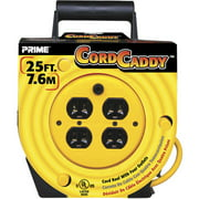 Prime 25-Feet 16/3 SJT Cord Caddy With 4 Outlets
