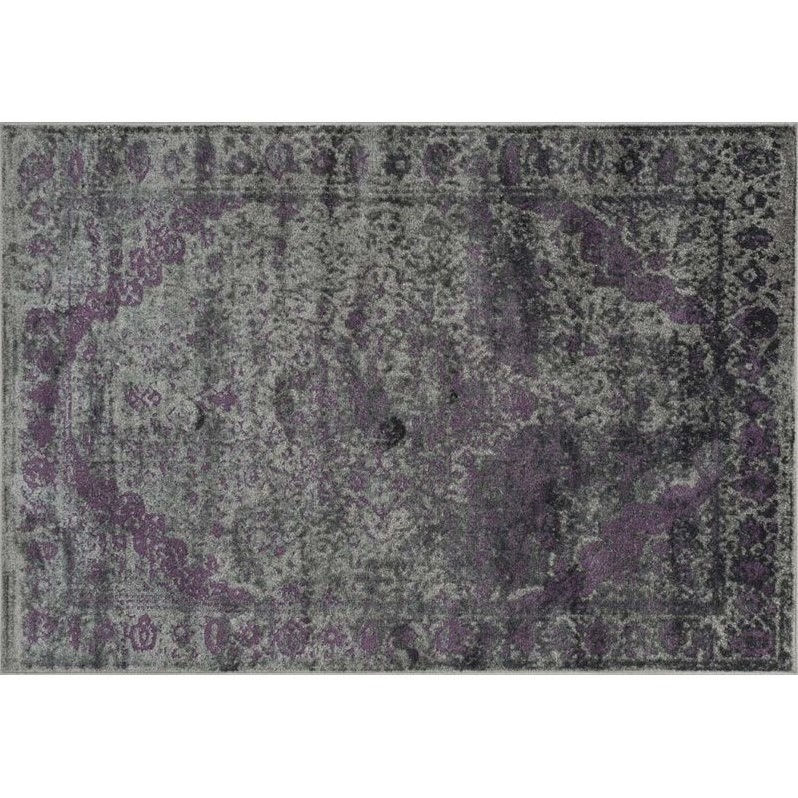 Loloi Rugs ELTOEO-03PWPU3956 Elton Collection Transitional Area Rug, 3-Feet 9-Inch by 5-Feet 6-Inch, Pewter/Purple