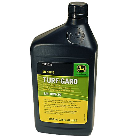 Genuine john deere ty22029 turf gard sae 10w 30 engine oil for How to get motor oil out of jeans