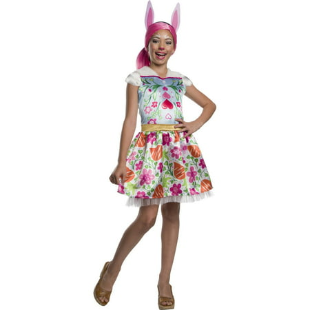 Enchantimals Bree Bunny Girls Halloween Costume - Halloween Evil Bunny Makeup