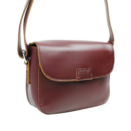 Vagarant Traveler Classic Unique Full Grain Leather Shoulder Bag LS50.RB