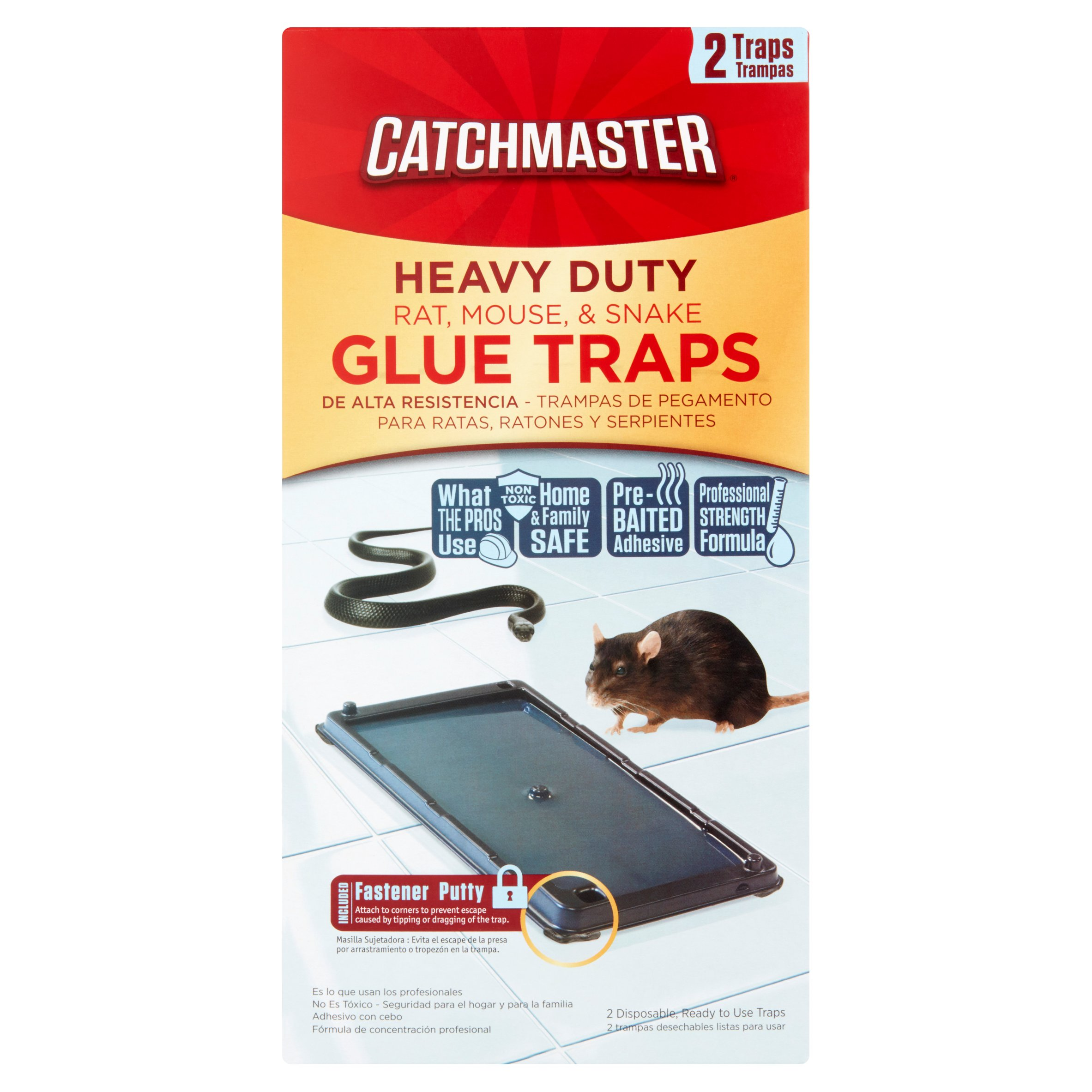 Catchmaster Heavy Duty Baited Rat Glue Traps, 2 ct
