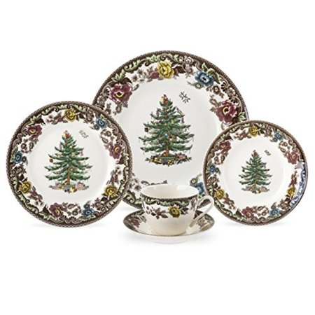 Spode Christmas Tree Grove 5 Piece Place Setting  Service For 1