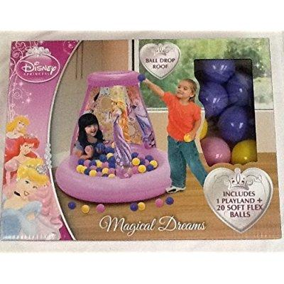 disney princess magical dreams inflatable ball pit with 2...