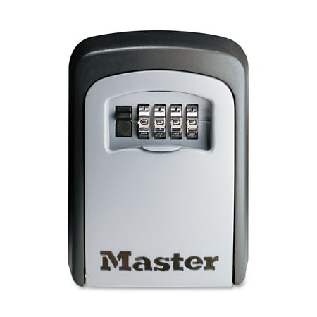 Master Lock Lock Box 5401D Set Your Own Combination Wall Mount Key Safe, 3-1/4 in. (Shaft Key)