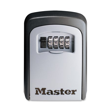 Master Lock Lock Box 5401D Set Your Own Combination Wall Mount Key Safe, 3-1/4 in. Wide - Key Cabinet Key Lock
