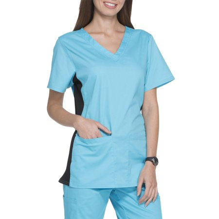 Scrubstar Women's Premium Collection V-Neck Flex Stretch Scrub Top (Halloween Nurse Scrubs)