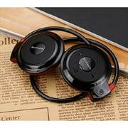 Wireless Head Mounted Stereo Bluetooth 4.0 Hand-free Headphone Earphone Sports Black