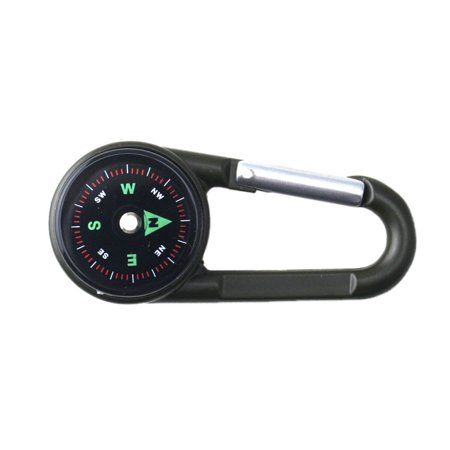 - Nicesee Multifunctional Hiking Metal Carabiner Mini Compass Thermometer Keychain