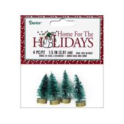 "Darice Holiday Sisal Christmas Tree 1.5"" Frost 4pc"