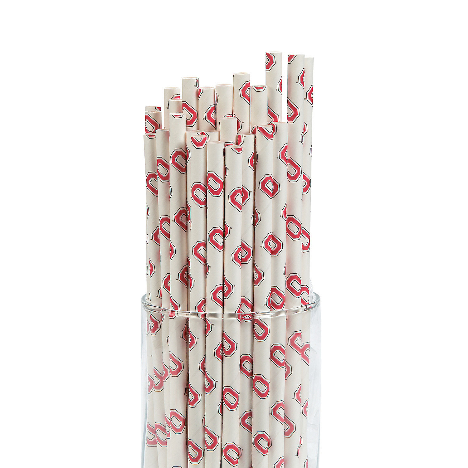 IN-13700693 NCAA Ohio State Paper Straws 24 Piece(s)