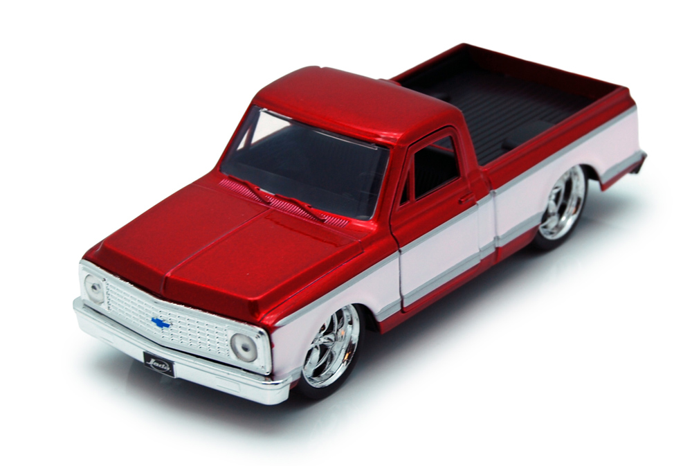 1972 Chevy Cheyenne Pickup Truck, Red Jada Toys Just Trucks 97009 1 32 scale Diecast Model... by Jada