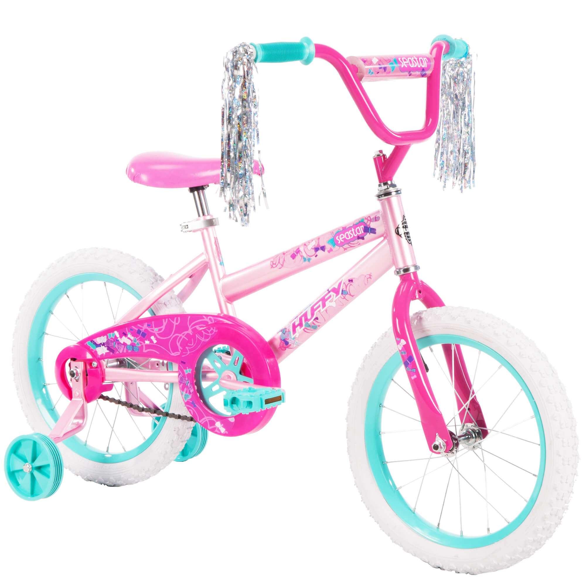 "Single-speed in Metallic Purple Huffy 16/"" Sea Star Girl/'s Bike Training Wheels"