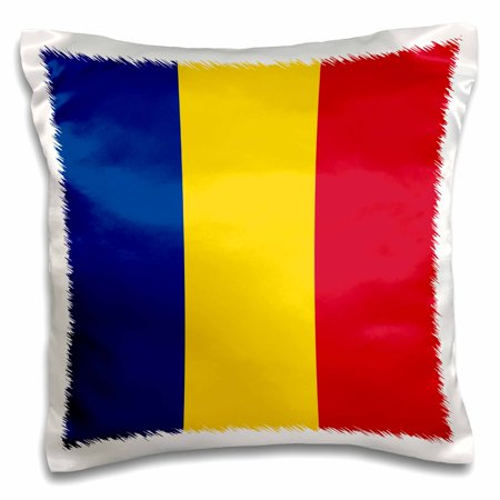 3dRose Flag of Romania - Romanian blue yellow red vertical stripe tricolor - Eastern Europe - world country - Pillow Case, 16 by 16-inch Blue Flag Yellow Stripe