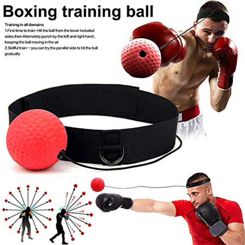1 PC Fight Ball Reflex Boxing Trainer Training Boxer Speed Punch Head Cap String