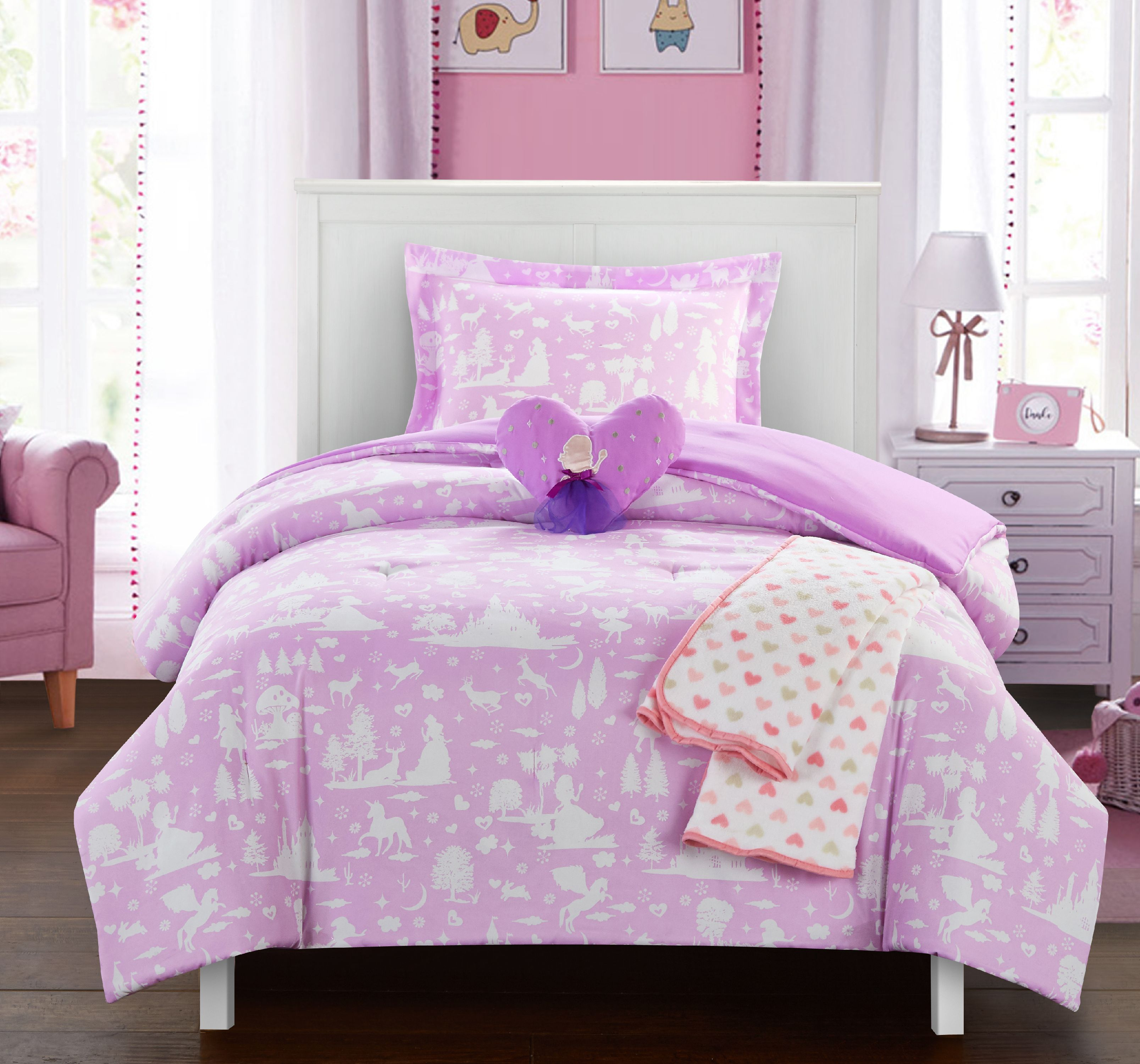"Chic Home Dart 5 Piece Comforter Set ""Fantasy Forest"" Fairy Tale Theme"