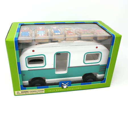 Jack Rabbit Creations Magnetic Wooden Glamper Camper Set