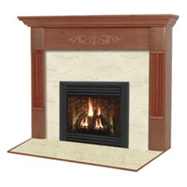 Viceroy R Flush Fireplace Mantel in Medium Provincial