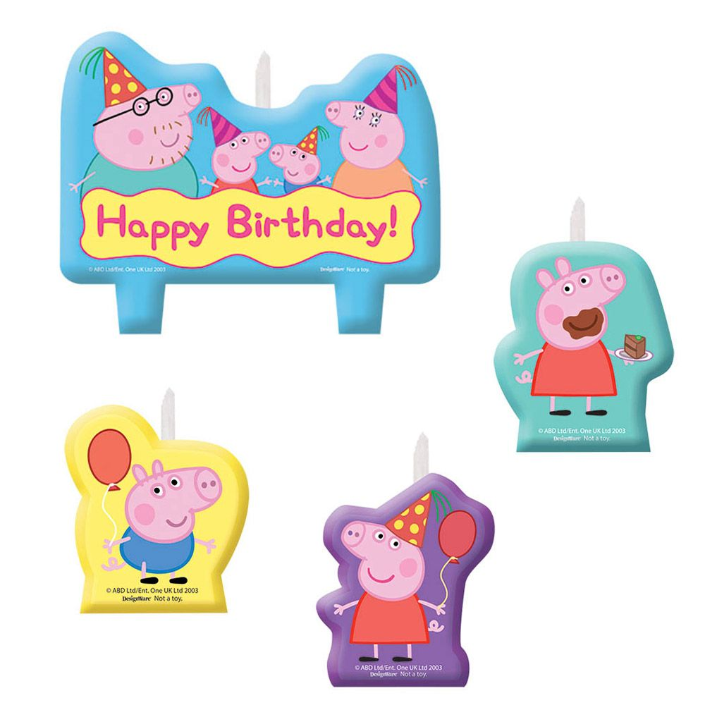 Peppa Pig  Candle Set - Party Supplies