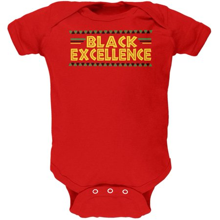 - Black History Month Excellence Pan African Colors Soft Baby One Piece