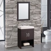 MTD Vanities Greece 24'' Single Sink Bathroom Vanity Set with Mirror