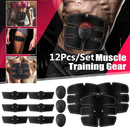 ABS Stimulator Training, Buttocks Arms Abdominal Muscle Trainer Smart Body Building Fitness Ab Core Toners Work Out 30 Caps Muscle Building