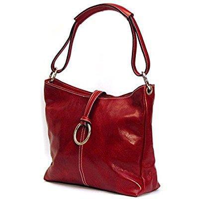 FLOTO tavoli tote, leather handbag in tuscan red