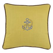 Brite Ideas Living Circa Solid Anchor Embroidered 17 x 17 in. Pillow